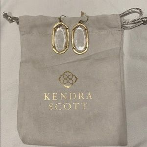 Clear Kendra Scott Earrings